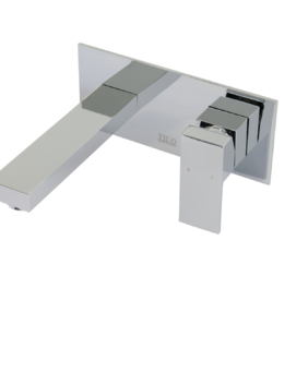 Wall Mixer | quattro Chrome | Wall Bath/Spa Combo with Backing Plate - AQ-403