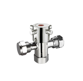 Tapware - Valves | Fitquick Dual Isolation Stop | 15 x 15mm 1/4 Turn CD | Chrome | Code: AW-SDFW1515