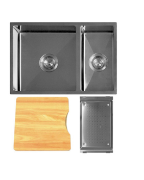 Kitchen Sink   Q4 Undermount   1-1/2 Bowl Radial Corner Sink with Accessory Pack B - Code: TKS-200RB