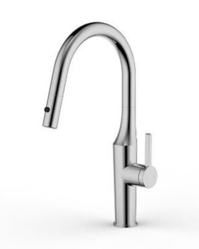 AQK Pull Out Style Dual Function Kitchen Sink Mixer | Brushed Nickel  | Code: AQK-202BN