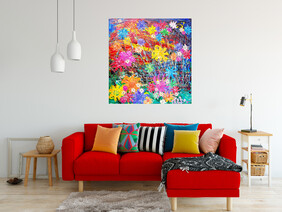 (Available Now) Flowers on the Beach Front Boulevard Painting