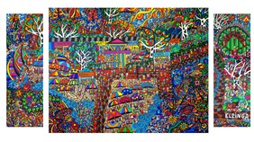 SOLD Commissioned Painting- Hawkin's Landing  252cm x 140.5cm