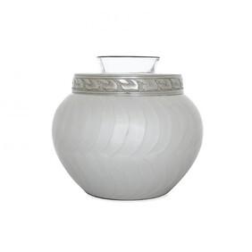 Odyssey Pet Urn Tealight Ivory/polished Nickel