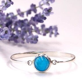 Sterling silver loop bracelet