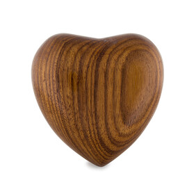 Pet urn Keepsake timber heart