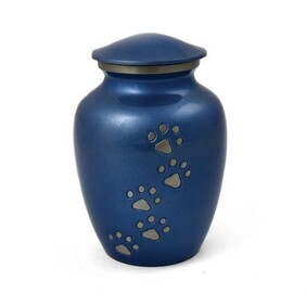 Heavenly Paws Pet urn Electric blue/Pewter