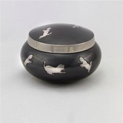 Odyssey leaping Cats Pet Urn - Slate/Pewter