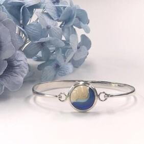 Silver drifter bracelet