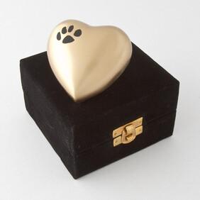 Eternal heart keepsake single paw - bronze/black with antique finish