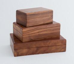 Classic timber pet urn