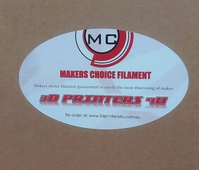 MAKERS CHOICE ABS PRO FILAMENT 1.75 1KG ROLLS