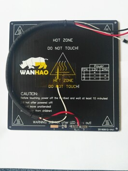 Wanhao I3 Plus / Cocoon Touch heated build plate