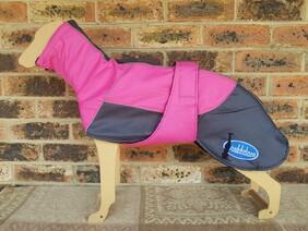 Medium waterproof coat - Pink / Dark Grey
