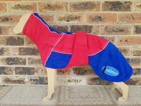 Medium fleece coat - Red / Blue