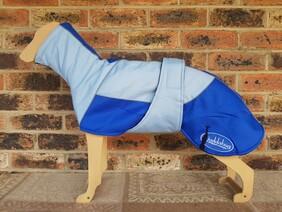 Medium waterproof coat - Sky blue / Royal blue