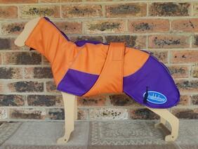 Medium waterproof coat - Orange / Purple