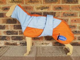 Medium waterproof coat - Sky Blue / Orange