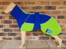 Large fleece coat - Royal Blue / Lime green