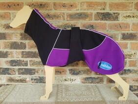Large fleece coat - Black / Purple