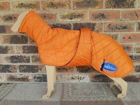 Medium quilted coat - Orange