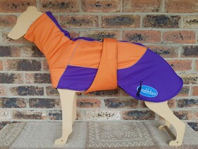 Large waterproof coat - Orange / Purple