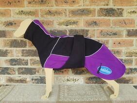 Medium fleece coat - Black / Purple