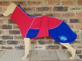 Large fleece coat - Red / Blue