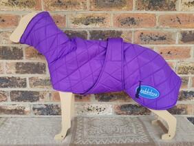 Medium quilted coat - Purple