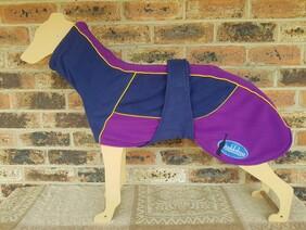 Large fleece coat - Purple / Navy