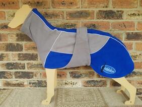 Large fleece coat - Grey / Royal blue