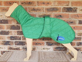 Large quilted coat - Green