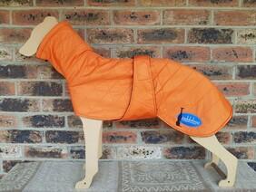 Large quilted coat - Orange