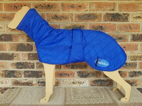 Large quilted coat - Royal Blue