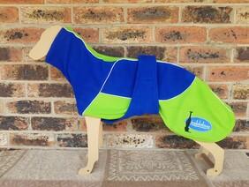 Medium fleece coat - Royal blue / Lime green