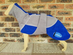 Medium fleece coat - Grey / Royal Blue