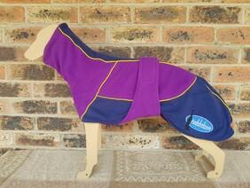 Medium fleece coat - Purple / Navy