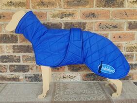 Medium quilted coat - Royal Blue
