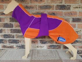 Large fleece coat - Purple / Orange