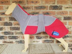 Large fleece coat - Grey / Red