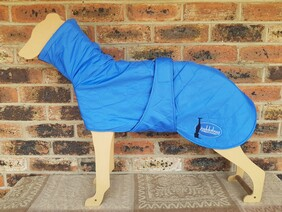 Large quilted coat - Blue