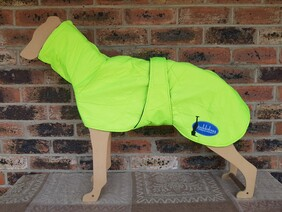 Large quilted coat - Hi Vis Lime Green