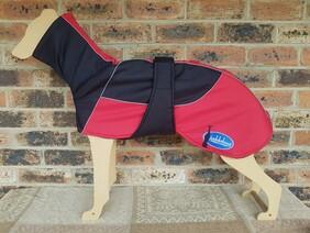 Large waterproof coat - Black / Red